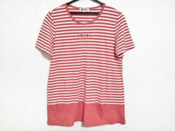 PICONE(ピッコーネ) 半袖Tシャツ サイズ40 M レディース美品  アイボリー×オレンジ
