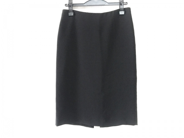 エンポリオアルマーニ スカート サイズ38 S レディース美品  黒×白 ドット柄