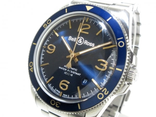 ベルアンドロス 腕時計美品  アエロナバル BRV2-92/BRV292-BU-G-ST/SST メンズ