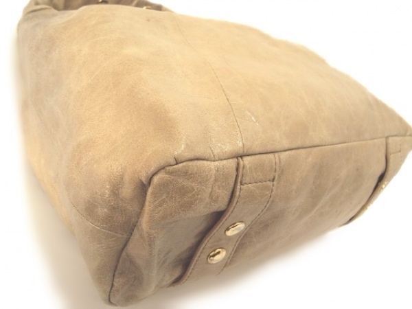 GALLARDAGALANTE(ガリャルダガランテ) ハンドバッグ ベージュ 合皮