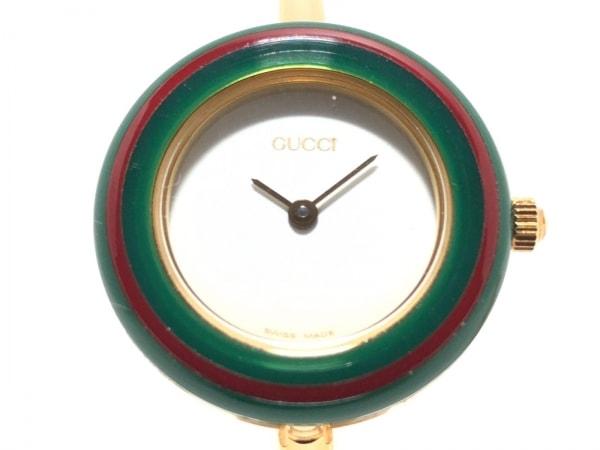 GUCCI(グッチ) 腕時計 ベゼルウォッチ 11/12.2 レディース アイボリー