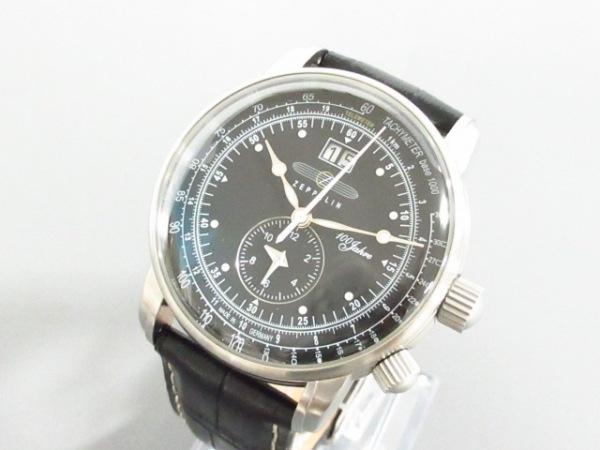 ツェッペリン 腕時計美品  7640-2 メンズ 革ベルト/型押し加工/100周年記念モデル/SS