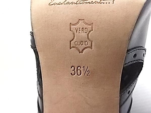ENCHANTEMENT...?(アンシャントマン) ブーティ 36 1/2 レディース 黒 レザー