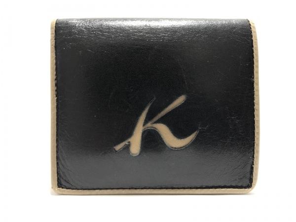 KITAMURA(キタムラ) 2つ折り財布 黒×ブラウン レザー