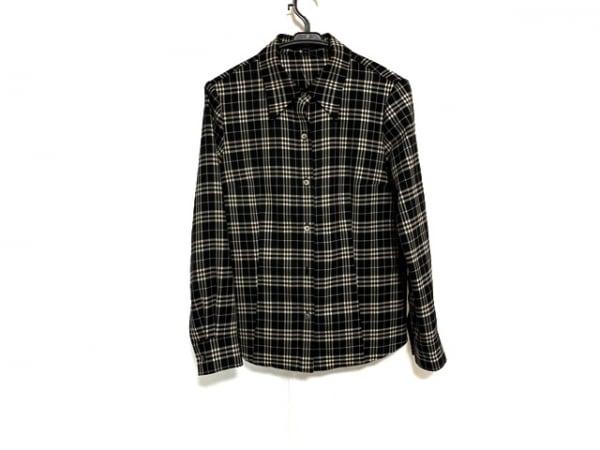 バーバリーロンドン 長袖シャツブラウス サイズ40 L レディース美品  黒×白