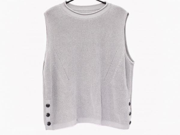 Leilian(レリアン) ノースリーブセーター サイズ17 XL レディース美品  グレー