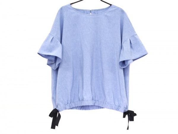 Leilian(レリアン) 半袖カットソー サイズ13 L レディース美品  ライトブルー