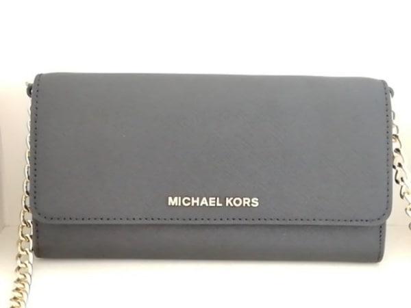 MICHAEL KORS(マイケルコース) 財布 黒 チェーンウォレット レザー