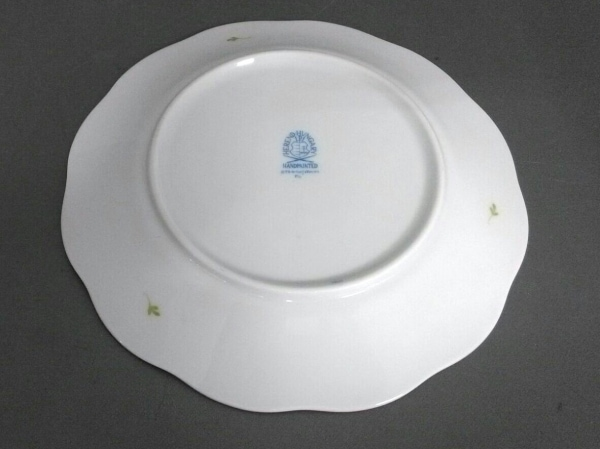 Herend(ヘレンド) プレート新品同様  白×ピンク×グリーン 小皿プレート/花柄 陶器