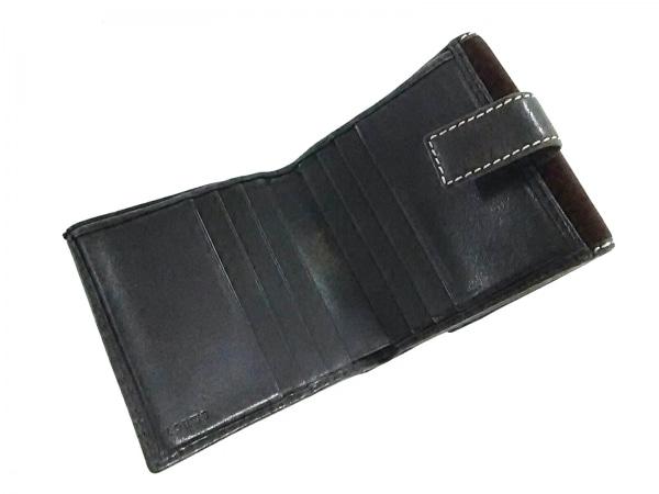 LOEWE(ロエベ) Wホック財布 - ダークブラウン スエード×レザー 3