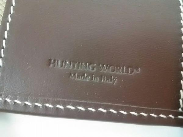 HUNTING WORLD(ハンティングワールド) キーケース カーキ×ダークブラウン 6連フック