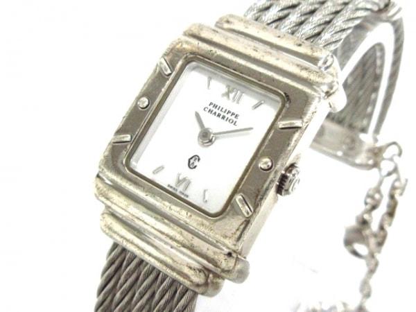 フィリップシャリオール 腕時計 サントロペ 6007909 レディース 白