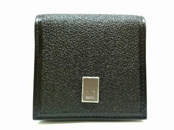 ダンヒル コインケース美品  ダークブラウン PVC(塩化ビニール)×レザー