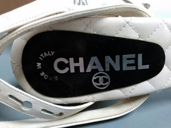 CHANEL(シャネル) サンダル 36 レディース ベージュ×黒 レザー