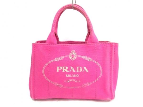 PRADA(プラダ) ハンドバッグ CANAPA 1BG439 ピンク キャンバス