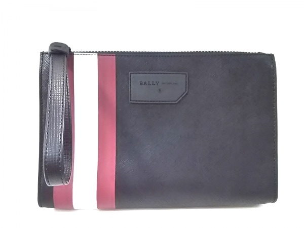 BALLY(バリー) クラッチバッグ美品  スキッド 6224071 黒×ボルドー×白 レザー