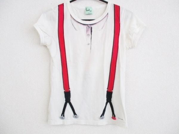 ポールスミスプラス 半袖Tシャツ サイズM レディース アイボリー×レッド×マルチ