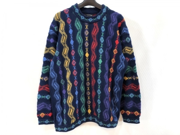 COOGI/CUGGI(クージー) 長袖セーター サイズS レディース ダークネイビー×マルチ