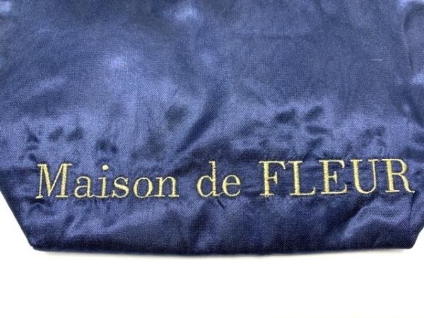 Maison de FLEUR(メゾンドフルール) トートバッグ ネイビー レース/フリル 化学繊維