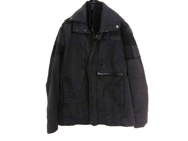 デシグアル コート サイズL レディース 黒×グレー 冬物/ダブルジップアップ