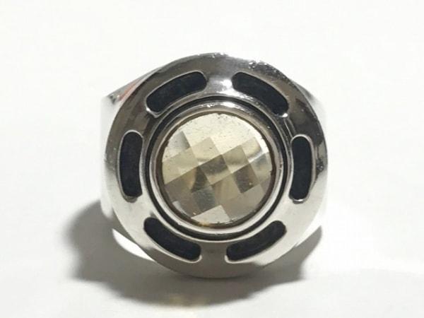 ドクターモンロー リング美品  金属素材×カラーストーン シルバー×イエロー