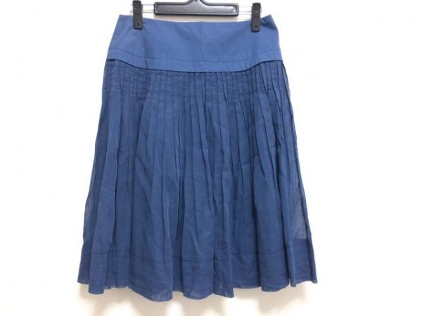 ヒロコビス スカート サイズ11 M レディース ネイビー プリーツ/シースルー