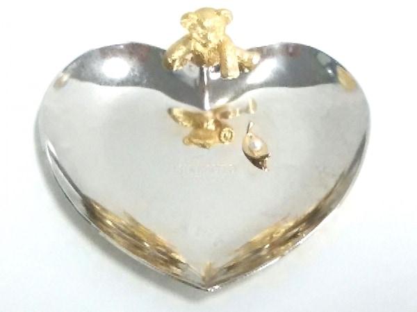 ミキモト 小物美品  シルバー×ゴールド トレー/ハート/クマ 金属素材×パール