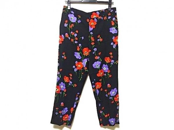 ヌメロ ヴェントゥーノ パンツ サイズ36 S レディース 黒×レッド×マルチ 花柄