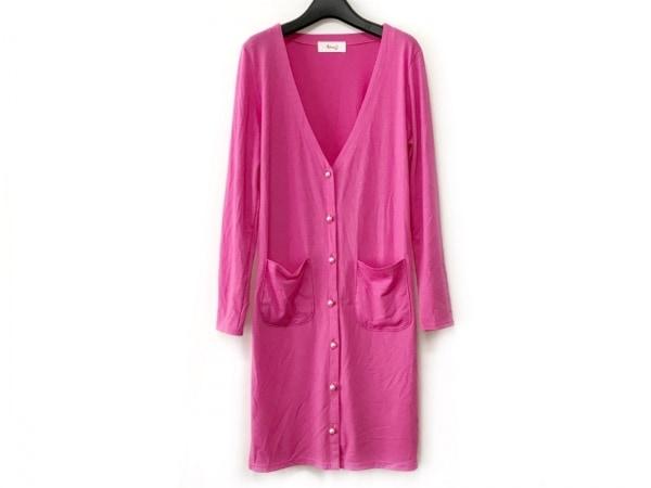 ninamew(ニーナミュウ) ワンピース サイズF レディース美品  ピンク フェイクパール