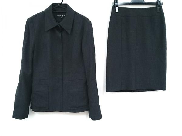 INDIVI(インディビ) スカートスーツ サイズ40 M レディース - - ダークグレー