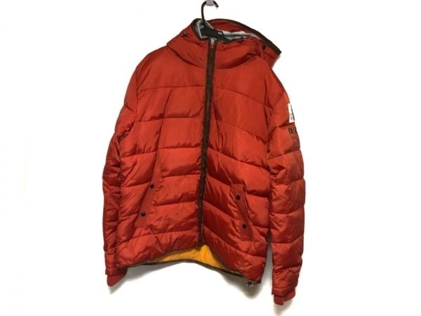 Desigual(デシグアル) ブルゾン メンズ美品  - - オレンジ 長袖/中綿/キルティング/冬