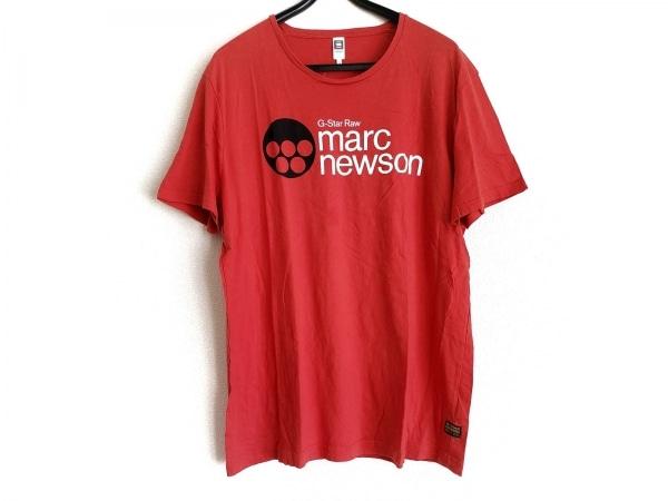 ジースターロゥ 半袖Tシャツ サイズXXL XL メンズ - - オレンジ クルーネック