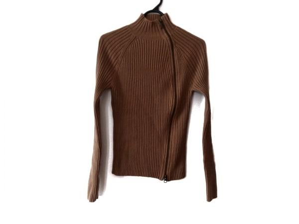 ゴルチエ 長袖セーター サイズ40 M レディース新品同様  ブラウン ジップアップ