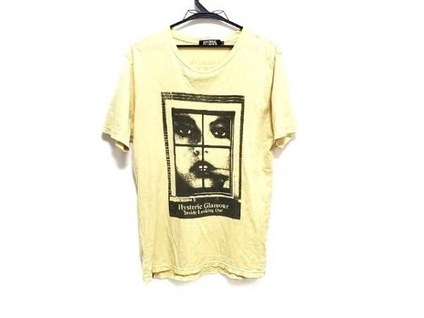 HYSTERIC GLAMOUR(ヒステリックグラマー) 半袖Tシャツ サイズM レディース イエロー