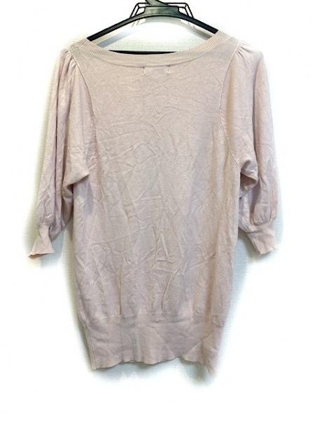 ジャスグリッティー 半袖セーター サイズ2 M レディース美品  ピンク スパンコール