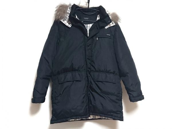 バーバリーブラックレーベル ダウンジャケット サイズLL メンズ美品  黒 冬物/ファー