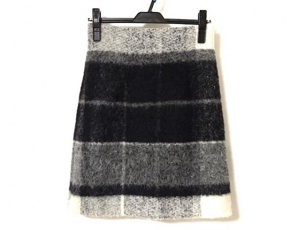 theory(セオリー) スカート サイズ0 XS レディース美品  ライトグレー×黒×マルチ