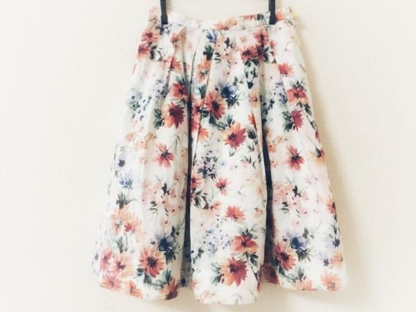 アプワイザーリッシェ スカート サイズ1 S レディース美品  白×レッド×マルチ