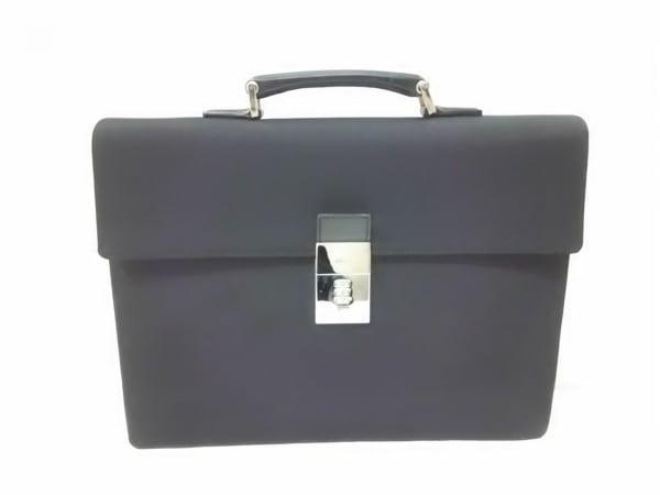 GUCCI(グッチ) ビジネスバッグ - 34044 黒 ロックナンバー「000」 ナイロン×レザー