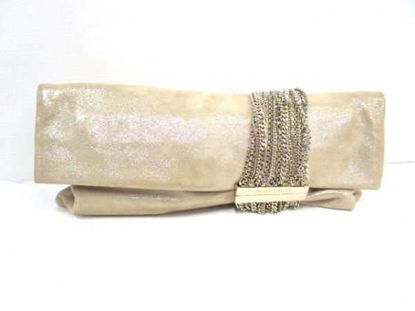 ジミーチュウ クラッチバッグ - J000050293001 ベージュ ラインストーン スエード