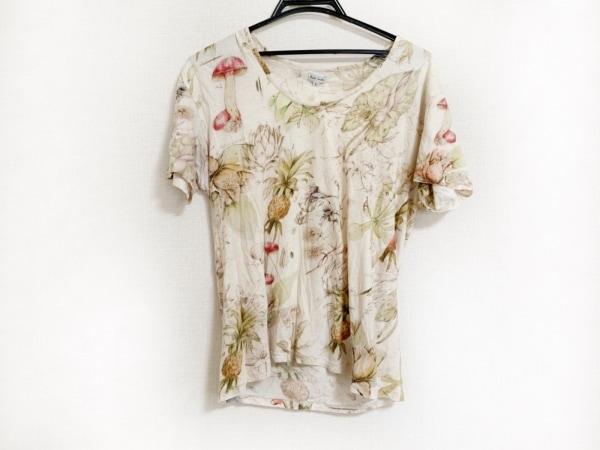 PaulSmith(ポールスミス) 半袖Tシャツ サイズL レディース ベージュ×マルチ