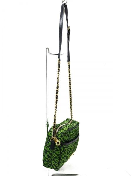 マルベリー ショルダーバッグ美品  - グリーン×黒 ナイロン×レザー×金属素材