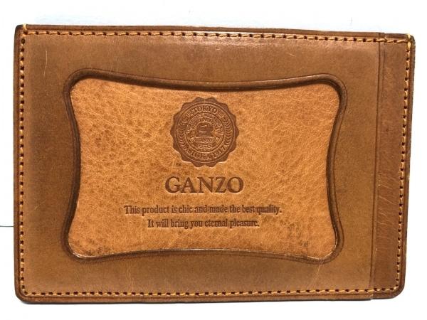 GANZO(ガンゾ) パスケース ブラウン レザー