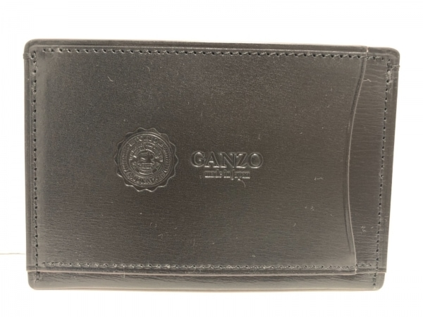 GANZO(ガンゾ) カードケース美品  黒 レザー