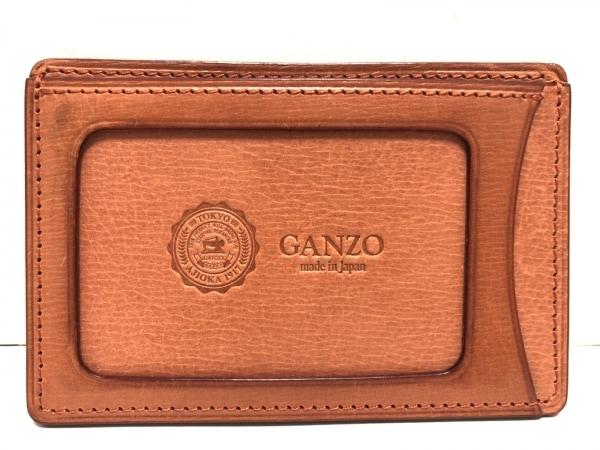 GANZO(ガンゾ) パスケース ライトブラウン レザー