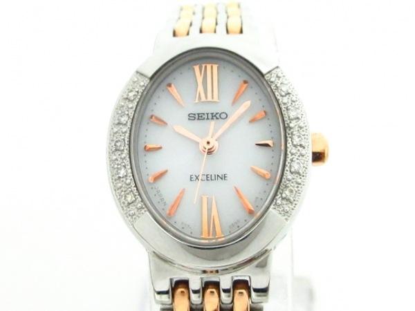 SEIKO(セイコー) 腕時計 エクセリーヌ V117-0AV0 レディース ダイヤベゼル 白