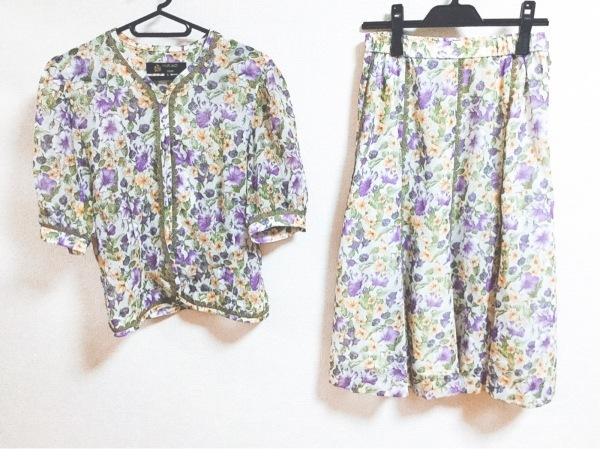 ハーディエイミス スカートセットアップ サイズ9 M レディース美品  花柄