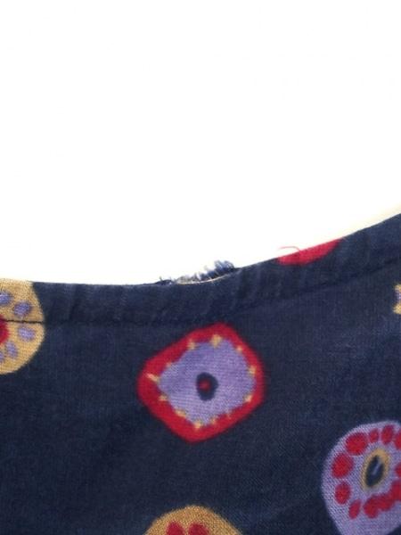 ヨーガンレール スカートセットアップ サイズM レディース美品  ネイビー×マルチ