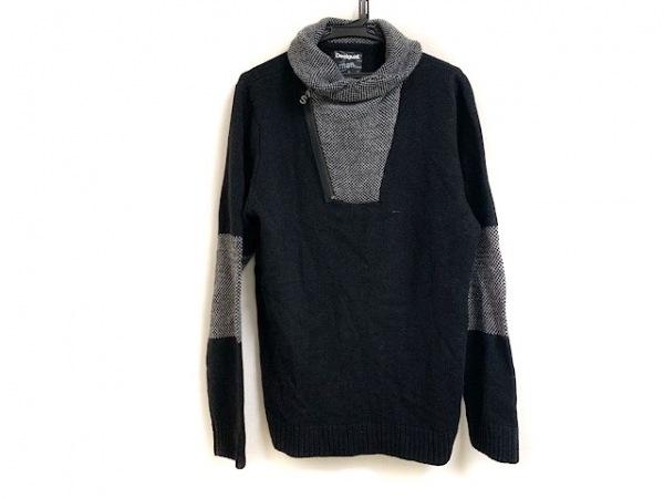 Desigual(デシグアル) 長袖セーター サイズXL メンズ美品  ダークブラウン×黒×白