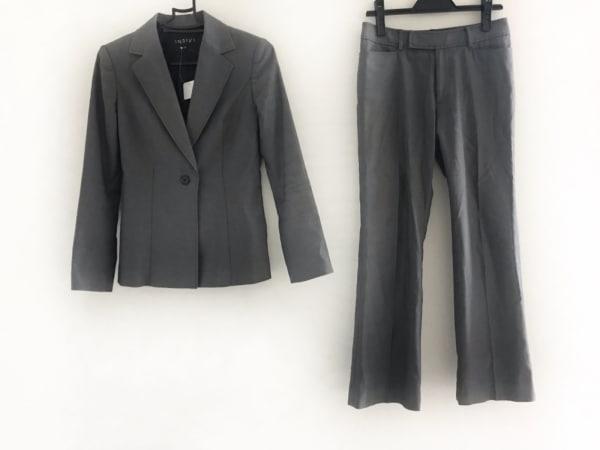 INDIVI(インディビ) レディースパンツスーツ サイズ36 S レディース 黒×白